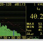 Режим 1/3 октавного анализатора спектра в шумомере-виброметре АССИСТЕНТ-TOTAL