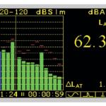 Режим измерения и индикации уровня шума в шумомере-виброметре АССИСТЕНТ-TOTAL