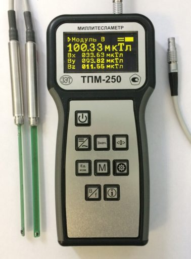 Тесламетр портативный модульный ТПМ-250.